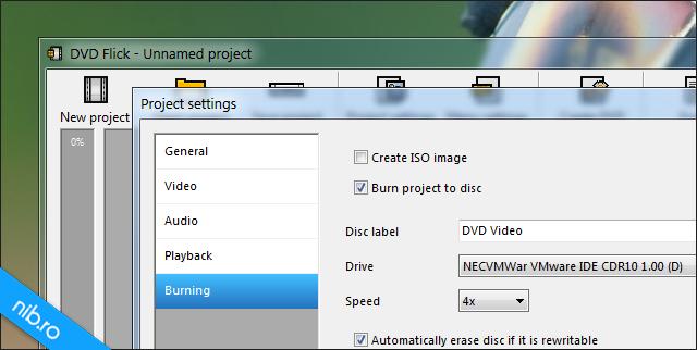 DVD Flick: Burning