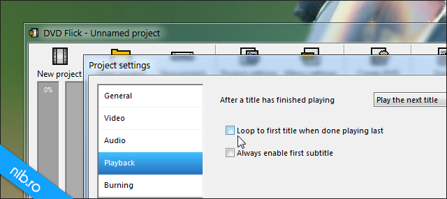 """Debifati """"Loop to first title when done playing last"""""""