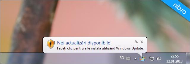 Notificare instalare actualizari in Windows_7