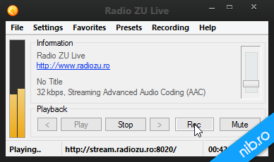 Program de ascultat si inregistrat radio